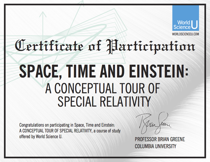赵希竹——Certificate_PARTICIPATION__SpaceTimeEinstein