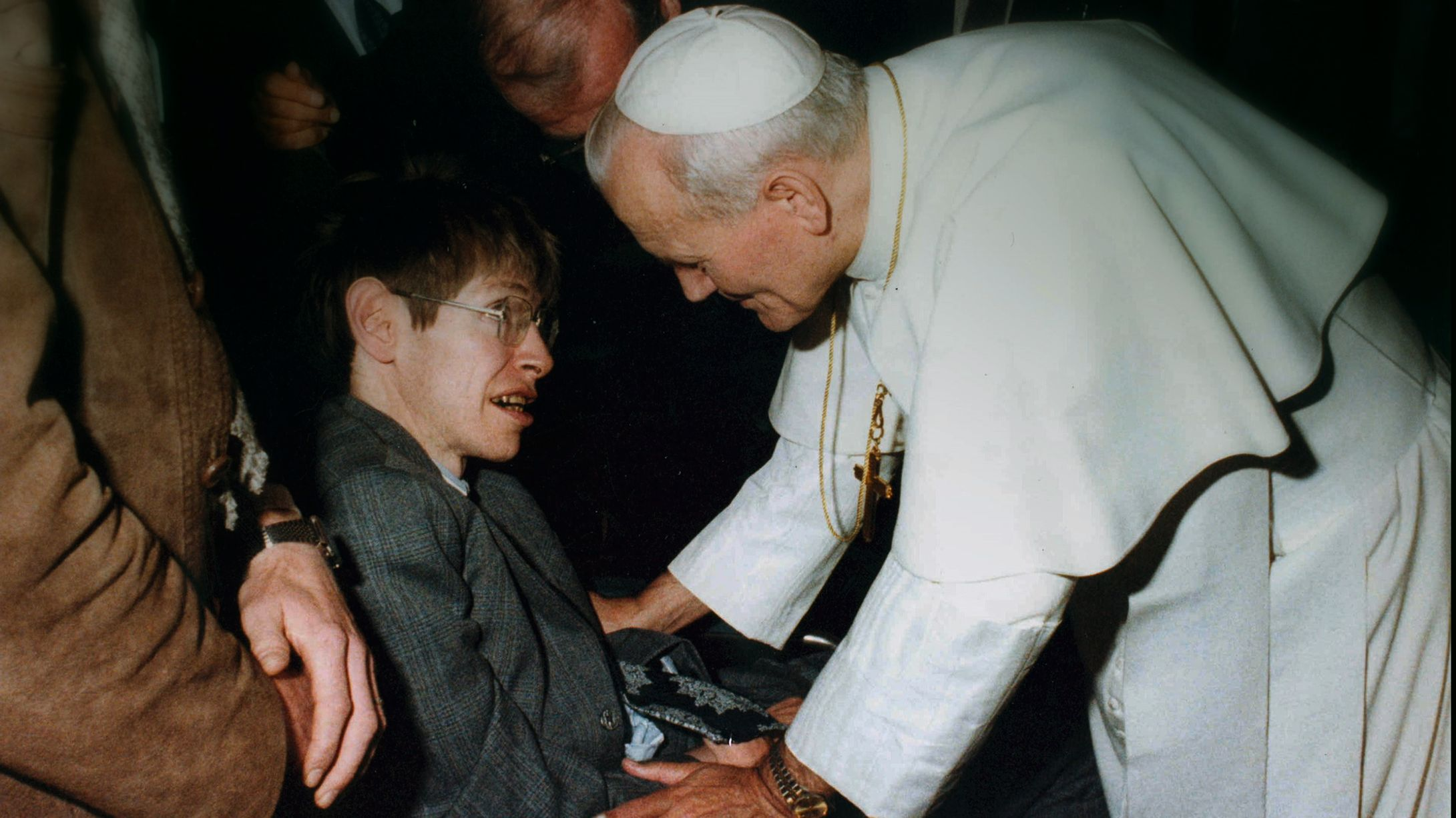 Stephen Hawking meets Pope John Paul II