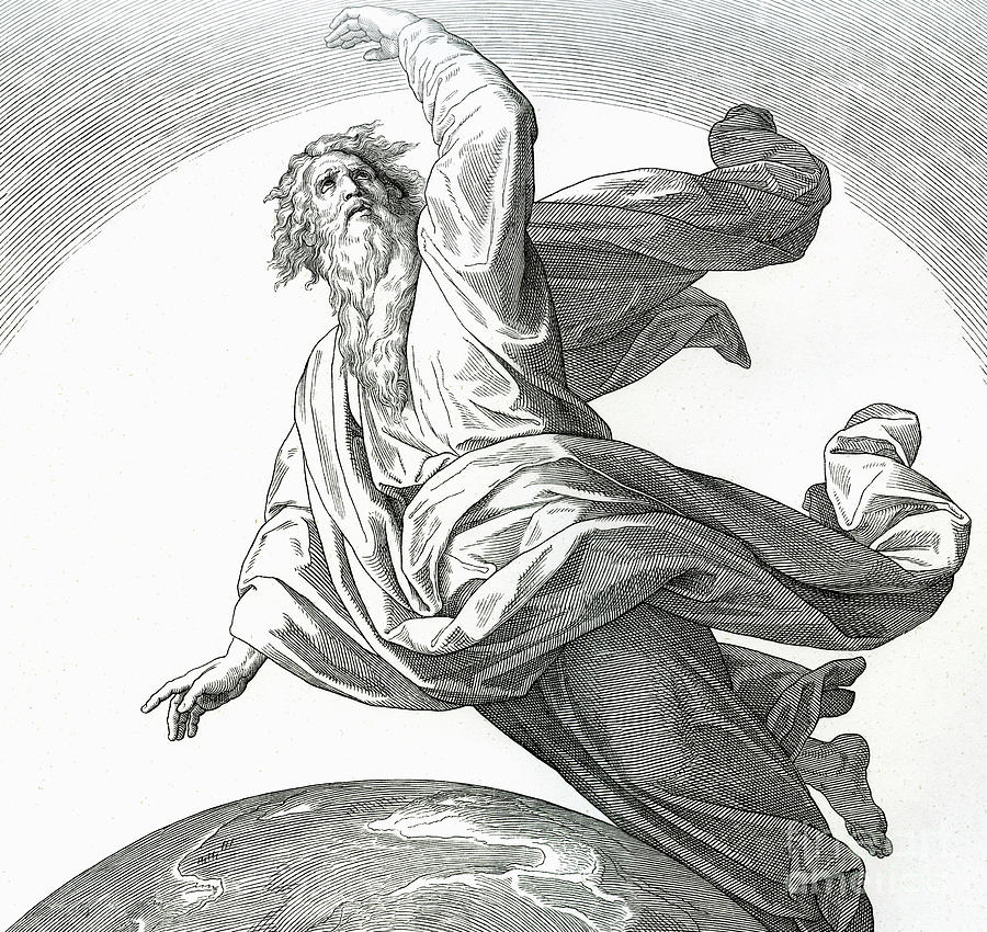 ‎second-day-of-creation-genesis-julius-schnorr-von-carolsfeld